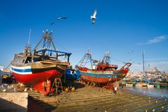 Essaouira - Magador port, Marrakech, Morocco. Royalty Free Stock Photography