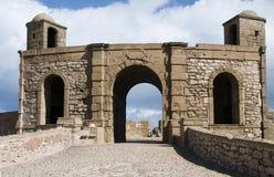 Essaouira Maroc de fort de Skala de ville Images libres de droits
