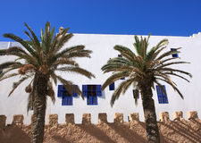 Essaouira Marokko, Medina-muur stock foto