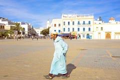 ESSAOUIRA, MAROKKO - OKTOBER 24: Stadsmening met niet geïdentificeerde peo Royalty-vrije Stock Foto's