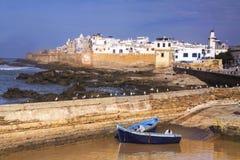 Essaouira Maroko miasta Stare Portugalskie Śródziemnomorskie ściany Obrazy Royalty Free