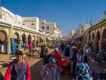 Essaouira, Marrocos - 2 de novembro de 2018: Nas ruas de Medina foto de stock royalty free