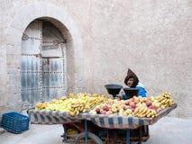 Moroccan street vendor in Essaouira Royalty Free Stock Photo