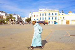 ESSAOUIRA, MOROCCO - OCTOBER 24: City view with unidentified peo Royalty Free Stock Photos