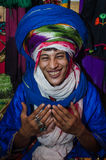 ESSAOUIRA, MOROCCO - September 18, 2015: Young unknown bedouin Stock Images