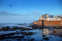 Essaouira Morocco. View of the Essaouira city at the Atlantic Ocean, Morocco Stock Photography