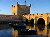 Essaouira old port in Morocco royalty free stock image