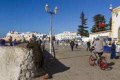 Essaouira Port. Everyday activity in Essaouira village, Unesco Heritage royalty free stock images