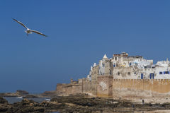 Essaouira port. Ramparts of Essaouira in morocco, Unesco Heritage Royalty Free Stock Images