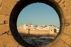 Essaouira stad i Marocko Arkivbild