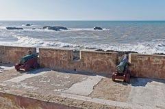 essaouiramorocco för kanoner defensiv vägg Royaltyfri Foto