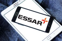 Essar Group logo. Logo of Essar Group on samsung mobile. Essar Global Fund Limited is an Indian conglomerate group. The Fund is a global investor, controlling a Stock Images