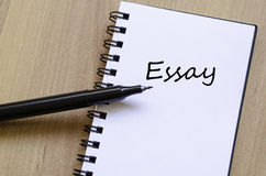Essay Concept Notepad Royalty Free Stock Image