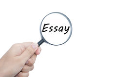 Essay Royalty Free Stock Image