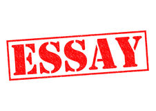 ESSAY. Red Rubber Stamp over a white background Stock Photo