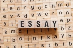 Essay word concept stock image