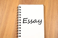 Essay write on notebook Stock Photos
