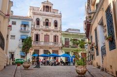 Essayez le café cubain dans l'arrangement des Caraïbes original Photographie stock libre de droits