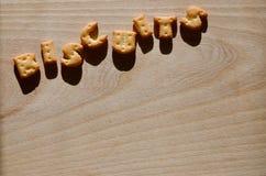1 Essbare Buchstaben Stockbilder