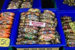 Essbare Meerestiere am Fischmarkt Lizenzfreie Stockfotografie