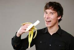 Essen der Banane Lizenzfreie Stockbilder