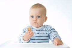 Essen der Biskuite Stockfotos