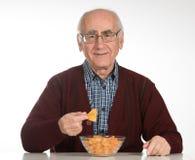 Essen der Chips lizenzfreies stockfoto