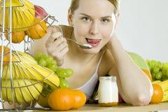 Essen der Frau Lizenzfreie Stockbilder