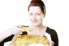 Essen der Pizza Stockfotografie
