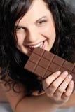 Essen der Schokolade Lizenzfreies Stockbild