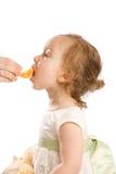 Essen der Tangerine Lizenzfreie Stockfotos