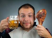 Essen des Fleisches Stockfotografie