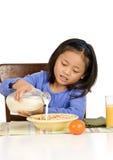 Essen des Frühstücks Stockbild