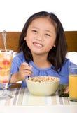 Essen des Frühstücks Lizenzfreies Stockbild