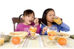 Essen des Frühstücks Lizenzfreies Stockfoto