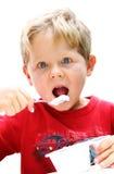 Essen des Joghurts Lizenzfreies Stockfoto