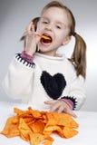 Essen des Kindes Lizenzfreies Stockfoto