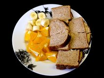 Essen die gesunde Alternative 2 zu Mittag lizenzfreies stockfoto