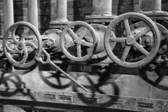 Zeche Zollverein, Essen, Germany. ESSEN, GERMANY - APRIL 7, 2019: Detail image of Zeche Zollverein, industrial heritage of Germany on April 7, 2019 in Essen royalty free stock photos