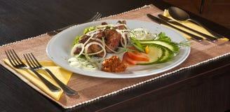 Essen im Restaurant Stockfotos