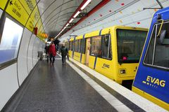 Essen light rail Stock Photo