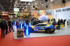 Essen Motor Show 2013. ESSEN, GERMANY - December 8: Bilstein dampers presented to visitors during Essen Motor Show in Germany, on December 8, 2013 Stock Photo
