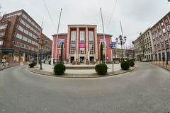 ESSEN NIEMCY, MARZEC, - 07, 2016: Grillo teatr jest znacząco kulturalnym punktem Fotografia Stock
