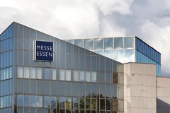 Essen, Noordrijn-Westfalen/Duitsland - 02 11 18: messe het teken van Essen in Essen Duitsland stock afbeeldingen