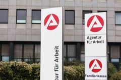 Essen, Nordrhein-Westfalen/Deutschland - 22 11 18: agentur fà ¼ r arbeit unterzeichnen herein Essen Deutschland lizenzfreie stockbilder