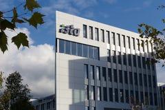 Essen, North Rhine-Westphalia/germany - 02 11 18: ista sign on an building in essen germany. Essen, North Rhine-Westphalia/germany - 02 11 18: an ista sign on an royalty free stock photography