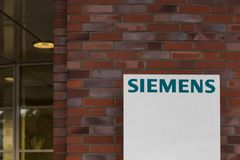 Essen, North Rhine-Westphalia/germany - 18 10 18: siemens building sign in cologne germany. Essen, North Rhine-Westphalia/germany - 18 10 18: an siemens building royalty free stock images