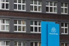Essen, North Rhine-Westphalia/germany - 22 11 18: thyssenkrupp quartier headquarters in essen germany stock photography