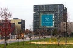 Essen, North Rhine-Westphalia/germany - 22 11 18: thyssenkrupp quartier headquarters in essen germany. Essen, North Rhine-Westphalia/germany - 22 11 18: the royalty free stock photography