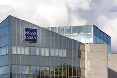 Essen, Rin-Westfalia del norte/Alemania - 02 11 18: el messe Essen firma adentro Essen Alemania imagenes de archivo